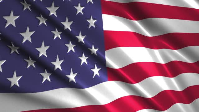 close up waving flag of USA,loopable