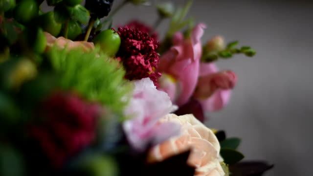 close up wedding bouquet - bunch of flowers stock videos and b-roll footage