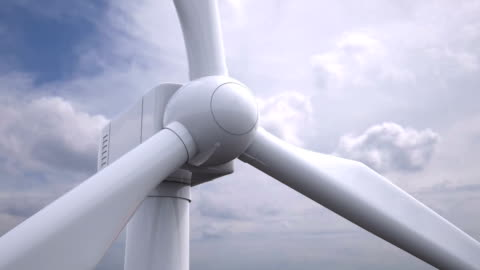 vídeos de stock e filmes b-roll de close-up da turbina de vento/loopable - generation z