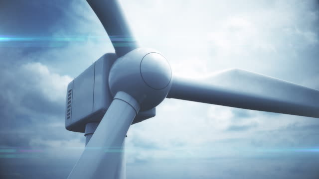 Close Up Wind Turbine | Loopable