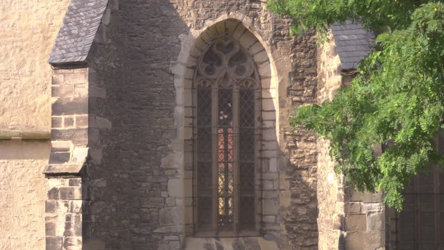 close up windows of the st. petri pauli church in eisleben - christianity stock videos & royalty-free footage