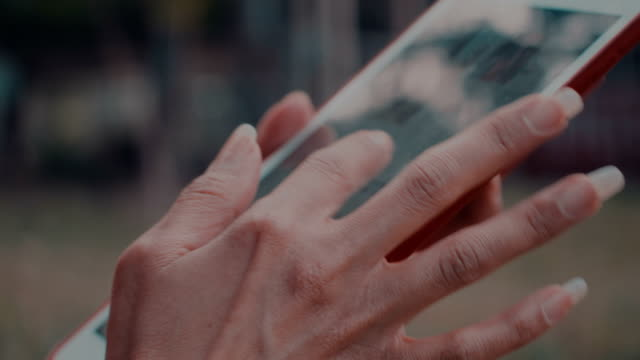 close up woman hand using tablet - pinching stock videos & royalty-free footage