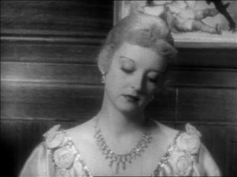 close up woman in jewels looking offscreen / feature - 1934 stock videos & royalty-free footage