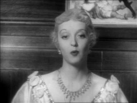 close up woman in jewels talking towards camera / feature - 1934 stock videos & royalty-free footage