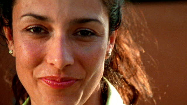 close up woman looking around and smiling - 30 39 years stock videos & royalty-free footage