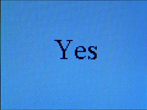 "close up ""yes!!!!!!....."" being typed on computer screen - western script stock videos & royalty-free footage"