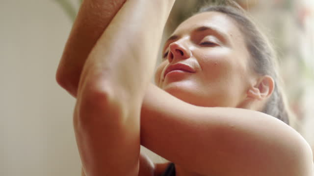 close up yoga woman - 30 34 years stock videos & royalty-free footage