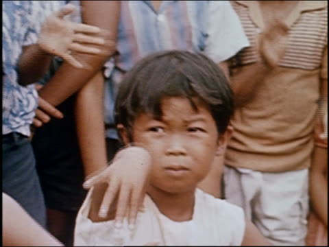 1966 close up young girl dancing with hand gestures  / audio / philippines - nur mädchen stock-videos und b-roll-filmmaterial