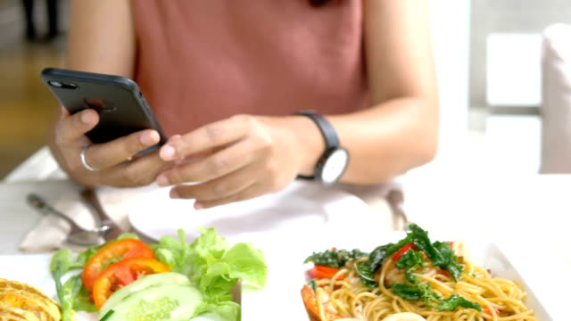 close up  young woman photographing food - foodie stock videos & royalty-free footage