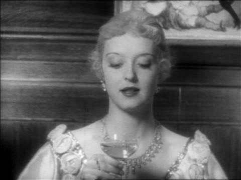 close up zoom in woman talking towards camera + sipping champagne / feature - 1934 stock videos & royalty-free footage