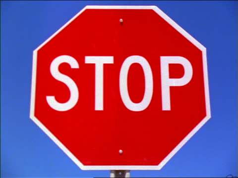 "close up zoom in + zoom out ""stop"" sign / new mexico - octagon stock videos and b-roll footage"