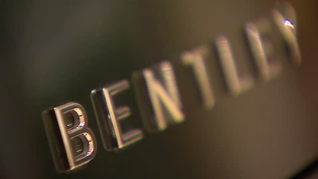 close ups of badges on bentley luxury cars - label stock videos & royalty-free footage