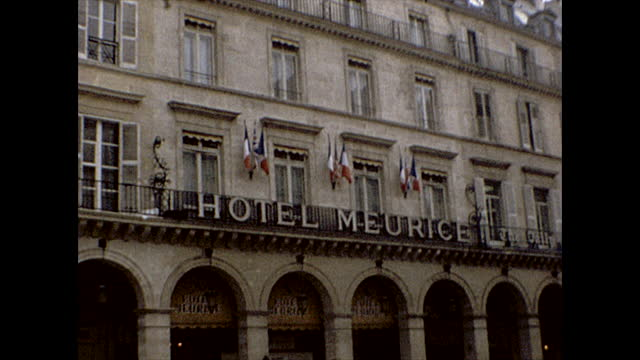 close ups of the storefront of cartier, the ritz hotel, ibm france, and shots of the place vendome sign and the monument itself. paris 1982 . - cartier stock videos & royalty-free footage