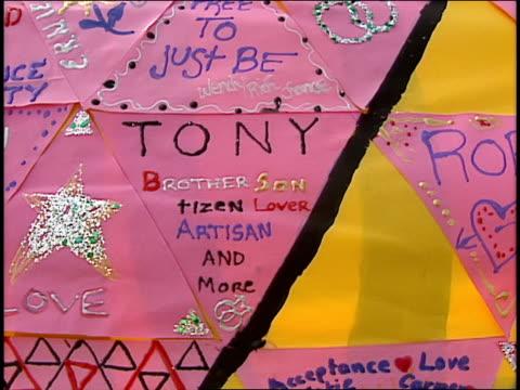 Close Ups of Various Homemade Gay Rights Pendents