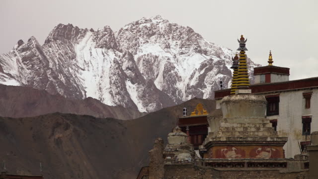 close view of lamayuru stupa, ladakh - stupa stock videos & royalty-free footage
