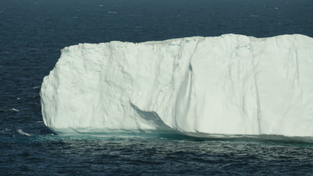 Close View Of Steep Iceberg Edge