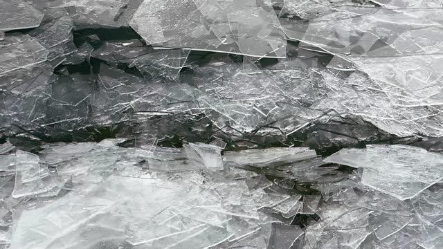 vídeos y material grabado en eventos de stock de close view over ice drift at river in spring - plano descripción física