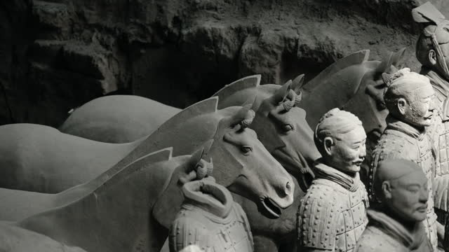 Close views of the Terracotta Army, China