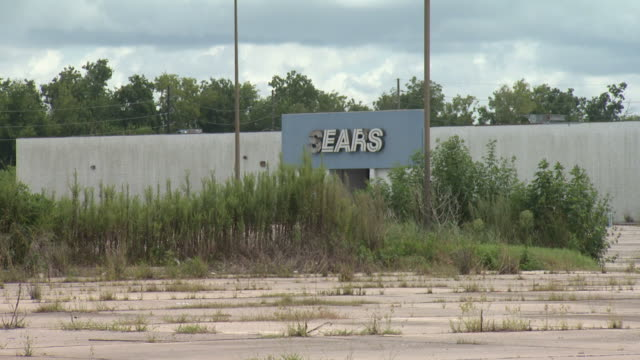Closed and neglected Sears in an abandoned shopping center / New Orleans Louisiana United States
