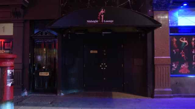 closed club the midnight lounge soho at steadicam - uk nightlife struggle amid coronavirus pandemic on october 19, 2020 in london, england. - struggle stock videos & royalty-free footage