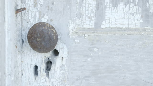 cu closed door with rusty metal doorknob / tennessee, united states - wood texture stock videos and b-roll footage