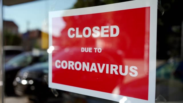 closed due to coronavirus - closed sign stock videos & royalty-free footage