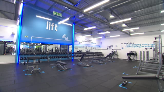 closed empty gym due to coronavirus pandemic lockdown - gym stock videos & royalty-free footage