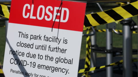 closed playground during covid-19 shut down - lockdown stock videos & royalty-free footage