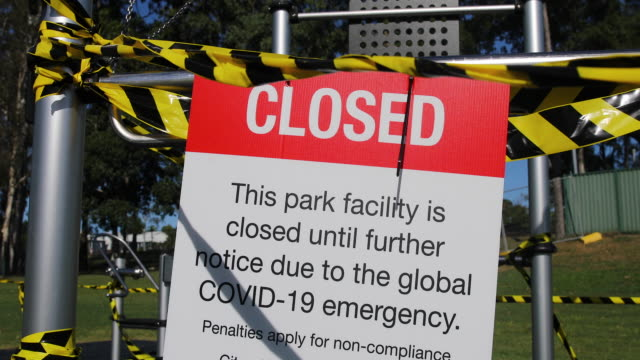 closed playground during covid-19 shut down - australian politics stock videos & royalty-free footage