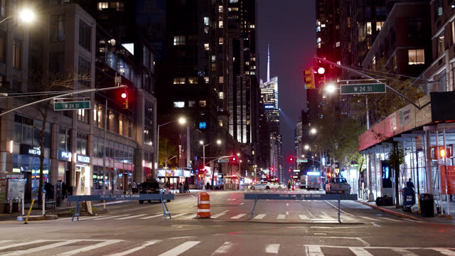 closed road. six avenue. new york. - news event stock videos & royalty-free footage