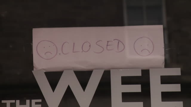 closed shops in edinburgh due to coronavirus - scottish culture video stock e b–roll