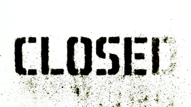 closed sign - closed sign stock videos and b-roll footage