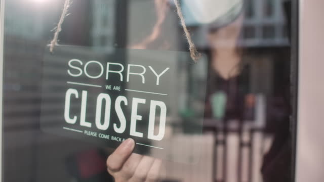 closed sign,changing sign from open to closed - closing stock videos & royalty-free footage