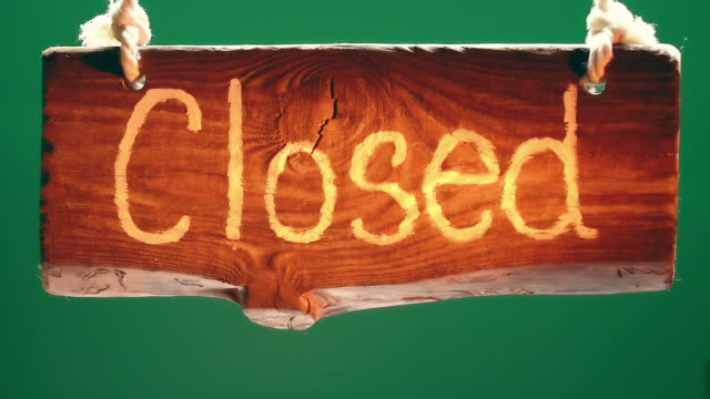 closed wood signboard - closed sign stock videos and b-roll footage