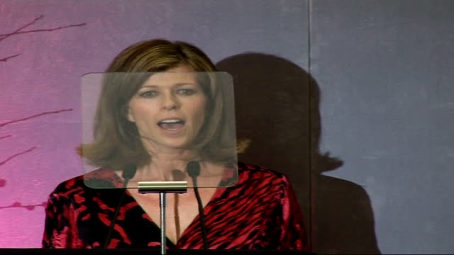closer young heroes awards ceremony 2006 at dorchester hotel, london: celebrity interviews / presentation of awards; kate garraway introducing... - dorchester hotel stock videos & royalty-free footage