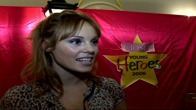 closer young heroes awards ceremony 2006 at dorchester hotel london celebrity interviews / presentation of awards michelle dewberry interview sot on... - alan sugar stock videos and b-roll footage