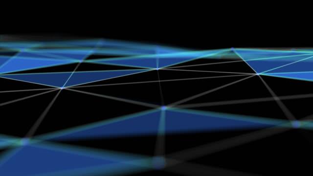 接続とドットのクローズアップ抽象グリッド、未来技術コンセプト - 微分干渉顕微鏡写真点の映像素材/bロール