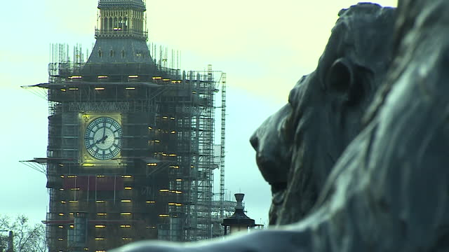 close-up and wide shot of big ben - clock tower stock videos & royalty-free footage
