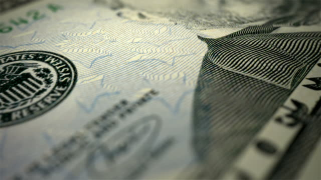 close-up animation of new 50 dollars bill - depth marker stock videos & royalty-free footage
