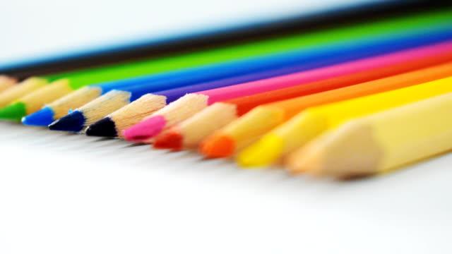Close-up at Colored pencils