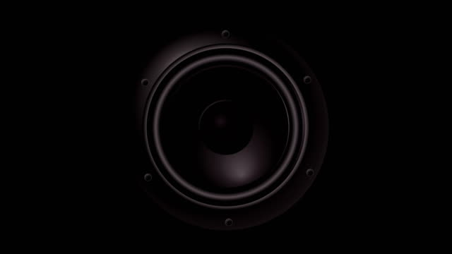 closeup at moving sub-woofer. speaker part music. background - bass guitar stock videos & royalty-free footage