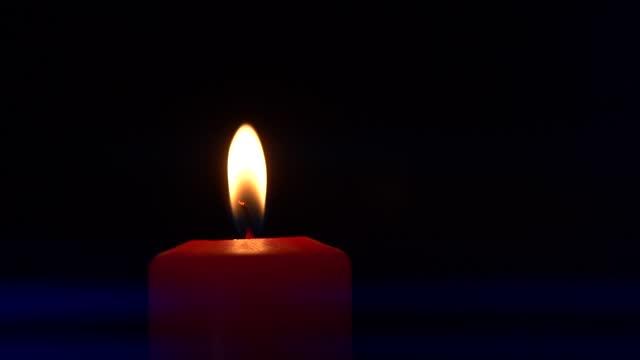close-up burning candle - anamorfisk bildbanksvideor och videomaterial från bakom kulisserna
