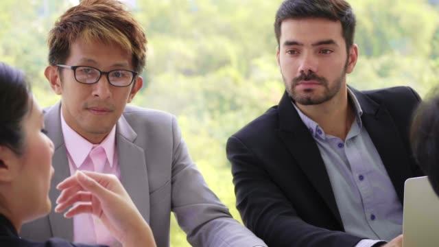 close-up : business talk , seminar - assertiveness stock videos & royalty-free footage