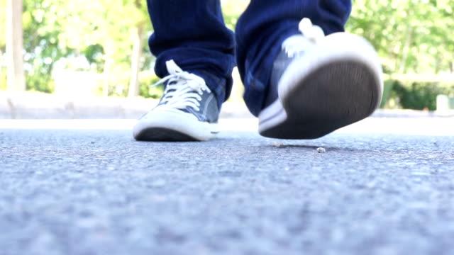 Närbild duk skor