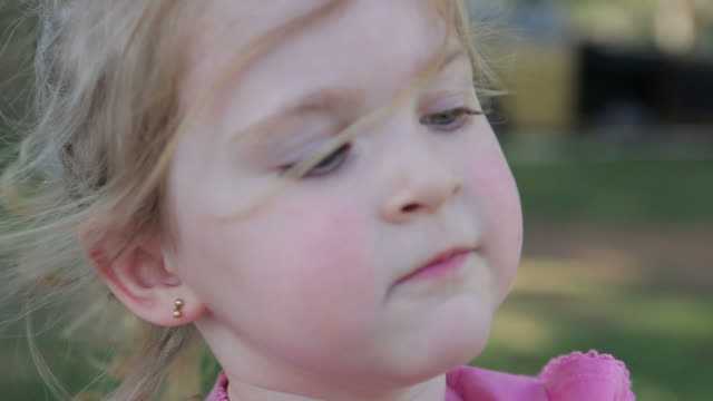 close-up child - one girl only stock videos and b-roll footage