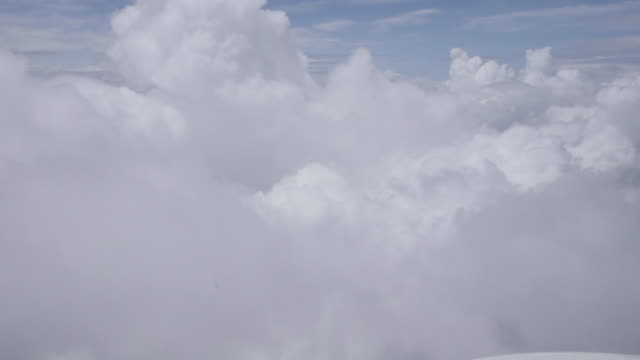 close-up cloud passing camera. - private jet stock videos & royalty-free footage