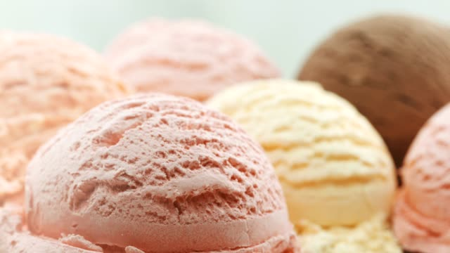 close-up, colorful ice cream ballas - serving scoop stock videos & royalty-free footage