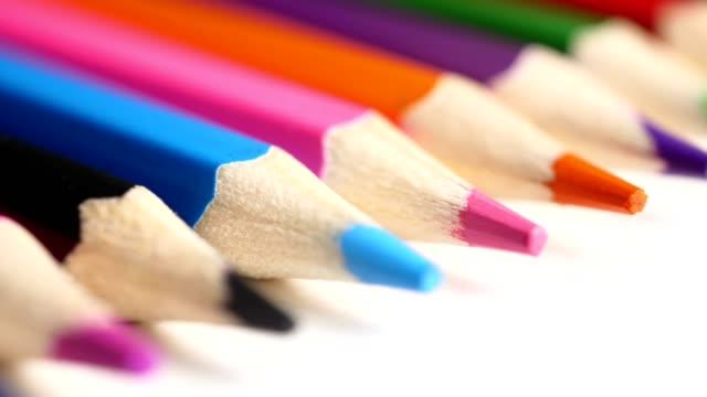 close-up colorful pencil - crayon stock videos & royalty-free footage