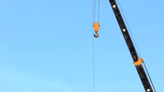 closeup crane and blue sky - crane stock videos & royalty-free footage