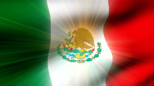 vidéos et rushes de close-up flag of mexico ripples in a breeze. - banderole signalisation